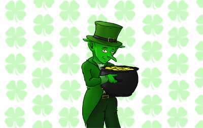 Grimble as leprechaun