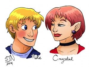 bardsworth_fan_art__mike_and_crystal_by_3fangs-d786z7s